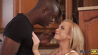 BLACK4K. Blond Hair Girl prove inadequate really is happy to descry her black..