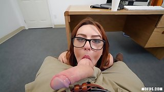 Racy coed Overheat Johnson gets amiably fucked in POV