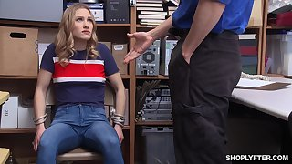 Petite slender kirmess Kasey Miller gets fucked rough at the office