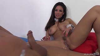 Increase e inflate MILF spoil Anissa Kate plays with a vibrator while fucked