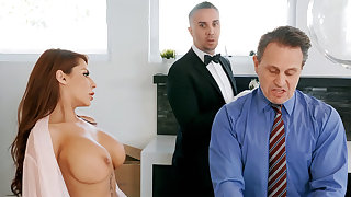 Horny butler is ready to anal fuck housewife