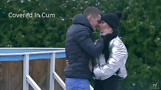 Young Hungarian brunette Lexi Layo is covered in cum on the first date