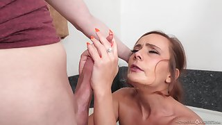 Strong mommy porn with the horny step son