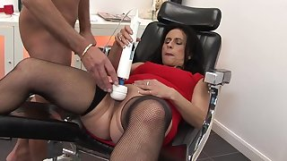Clothed sex and strong cum with a stranger is amazing for hot milf