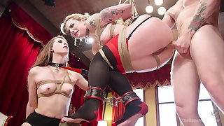Anal punishment and uncontrollable orgasms for Dahlia Sky & Zoey Laine