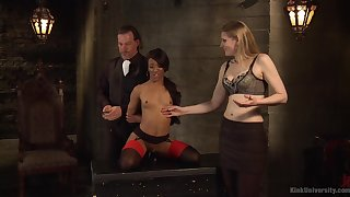 Ebony beauty Nikki Darling gets tied up and tortured by Shay Tiziano