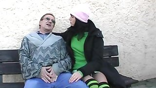 Amateur fucking in the outdoors with cum in mouth for sexy Renate