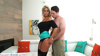 Unsatisfied wife Bridgette B is cheating on her husband with neighbor
