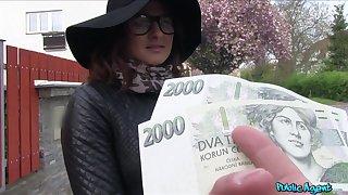 Czech beauty accepts cash for a good fuck on cam